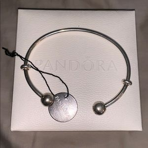 Pandora Open Bangle Sterling Silver, Silicone